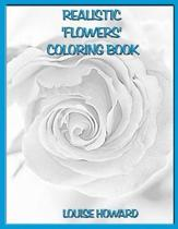 Realistic 'flowers' Coloring Book