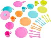 KidKraft Speelservies 27 stuks - Felle kleuren