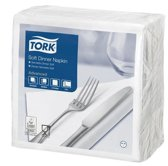 Tork tissue servet 39x39cm 3-laags 1/4-vouw wit 12x100