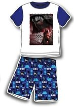 Star Wars pyjama, shortama maat 98/104 wit/blauw