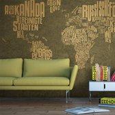 Fotobehang - Wereldkaart