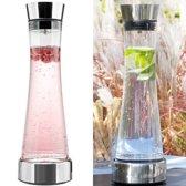 AWEMOZ® Karaf met koelelement - Grote waterkan - Glas - RVS - 1 liter