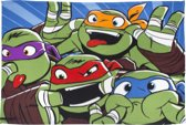 Teenage Mutant Ninja Turtles Clown - Polar Panel Fleece - Deken - 100 x 150 cm - Groen