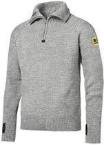 Snickers ½-Zip Wollen Sweater 2905-2800-Lichtgrijs melange-XL