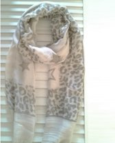 Sjaal Crème Met Print