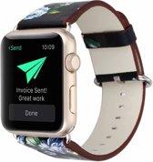 iWonow Lederen Bandje Apple Watch Series 1, 2, 3, 4 (42 en 44 mm) - Gekleurd