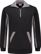 Workman Zipper Sweater Bi-Colour - 2706 zwart/grijs - Maat L