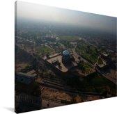 Luchtfoto van de eeuwenoude stad Multan in het Aziatische Pakistan Canvas 160x120 cm - Foto print op Canvas schilderij (Wanddecoratie woonkamer / slaapkamer) XXL / Groot formaat!