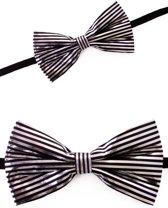Strik streep zwart/zilver