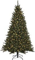 Black Box smalle kunstkerstboom led toronto fir maat in cm: 185 x 114 groen 190 lampjes met warmwit led