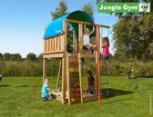 Jungle Gym - Jungle Villa - Houten Speeltoren - Brandweerpaal