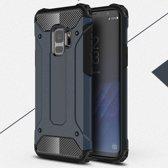 Samsung Galaxy S9 Armor Hybrid Case - Blauw