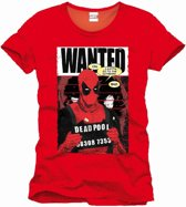 Merchandising DEADPOOL - MARVEL T-Shirt Wanted - Red (L)