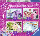 Ravensburger My little Pony 4in1box puzzel - 12+16+20+24 stukjes - kinderpuzzel