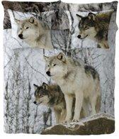 Zavelo Dekbedovertrek Alpha Wolf -200 x 200/220 cm