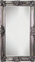 Spiegel - Linda- zilver - buitenmaten breed 126 cm x hoog 226 cm.