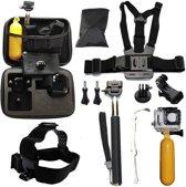 Accessoires set 10 in 1 voor EKEN  en GoPro Action Camera in luxe opbergkoffer