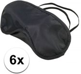 Slaapmasker zwart 6 stuks