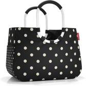 Reisenthel Loopshopper L Boodschappentas - Shopper - Maat L - Polyester - 25L - Mixed Dots Zwart;Wit;oranje