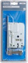 Nemef kastslot 1256/2 - Doornmaat 50mm - Wit gelakte voorplaat - Met sluitplaat - Met sleutels - Met bevestigingsmateriaal - In zichtverpakking