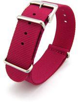 Premium Pink Nato strap 18mm - Horlogeband Roze + Luxe pouch