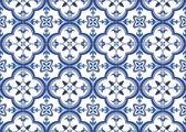 Vinyl Placemat | Blauwe Tegels | 6 stuks (1 gratis)