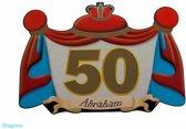 50 Jaar Abraham Huldebord 47x34cm