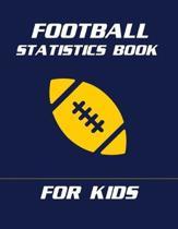 Football Statistics Book For Kids