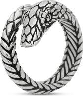 zilveren slang ring - S28 FIERCE snake collectie