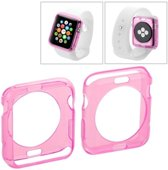 Apple Watch 42mm - hoes, cover, case - TPU - Transparant - Roze