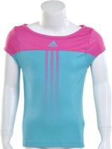 adidas Girls Response Capsleeve - Sportshirt - Kinderen - Maat 176 - Intens Blauw;Intens Roze