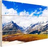 Himalaya in India Hout 80x60 cm - Foto print op Hout (Wanddecoratie)