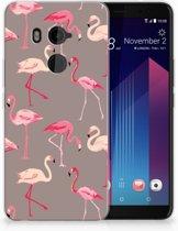 HTC U11 Plus TPU-siliconen Hoesje Flamingo