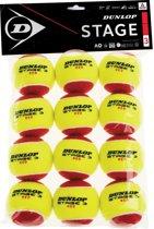 Dunlop D Tb Stage 3 Red 12Polybag Tennisballen - Yellow
