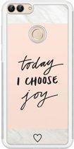 Huawei P Smart hoesje - Choose joy