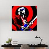 Keith Richards Art on Plexiglass 80/80cm
