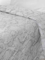 Sprei Lyon(2) wit/grijs Eenpersoons  170x260 cm / Cevilit City Collection