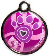 Hondenpenning - Pink Paw