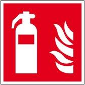 Kunstof brandblusser pictogram, ISO 7010, 150 x 150 mm