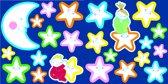 Muurstickers 3D - Lachende sterren - Glow in the dark - Multicollor