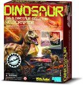 4M Kidzlabs Graaf je Dinosaurus op - Velociraptor