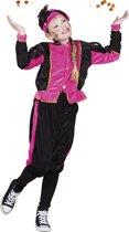 Pieten kostuum kinderen roze (7-9 jaar) - Carnavalskleding