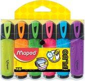 12x Maped markeerstift Fluo'Peps assortiment blister met 6 stuks