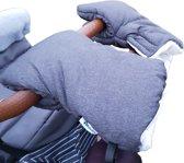 Altabebe Polar handwarmers - Set van 2 handenwarmers – Handschoenen voor kinderwagen & buggy - Grijs/Wit