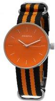 Prisma Unisex-horloge P.1243.23WG Oranje wijzerplaat