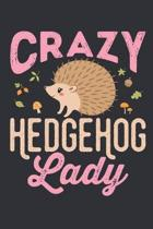 Crazy Hedgehog Lady: Hedgehog Journal, Blank Paperback Notebook to write in, Hedgehog Lover Gift, 150 pages, college ruled