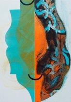 Hans Vredegoor Schilderij Ets 'Beker van genoegen'(53x78)