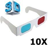 ed4b1b93bc5d4b 10 Stuks - 3D Red-Cyan Papieren Bril