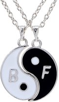 Fako Bijoux® - Vriendschapsketting - Yin Yang - Best Friends