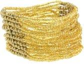 Elastische armband met kleine kralen
